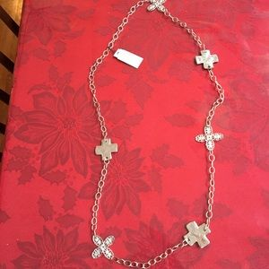 NWT Susan Shaw Silver Long Necklace